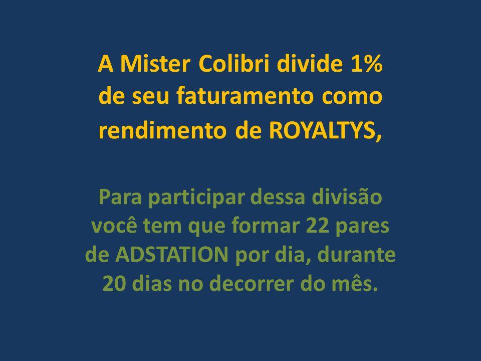 A Mister Colibri divide 1% de seu faturamento como