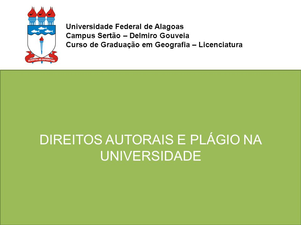 Direitos autorais e plágio na Universidade