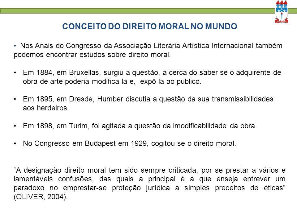 CONCEITO DO DIREITO MORAL NO MUNDO