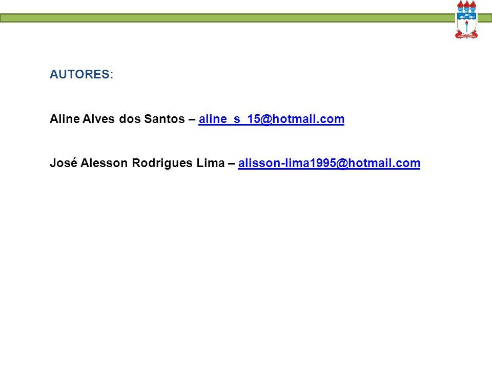 AUTORES: Aline Alves dos Santos – aline_s_15@hotmail.com.