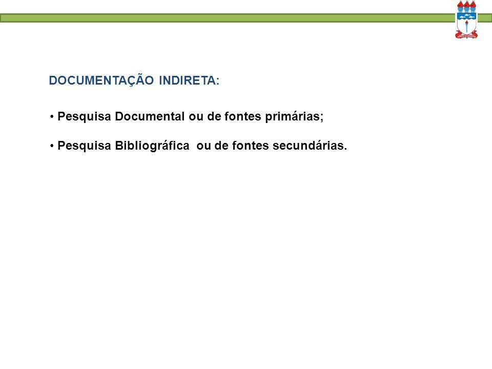 DOCUMENTAÇÃO INDIRETA: