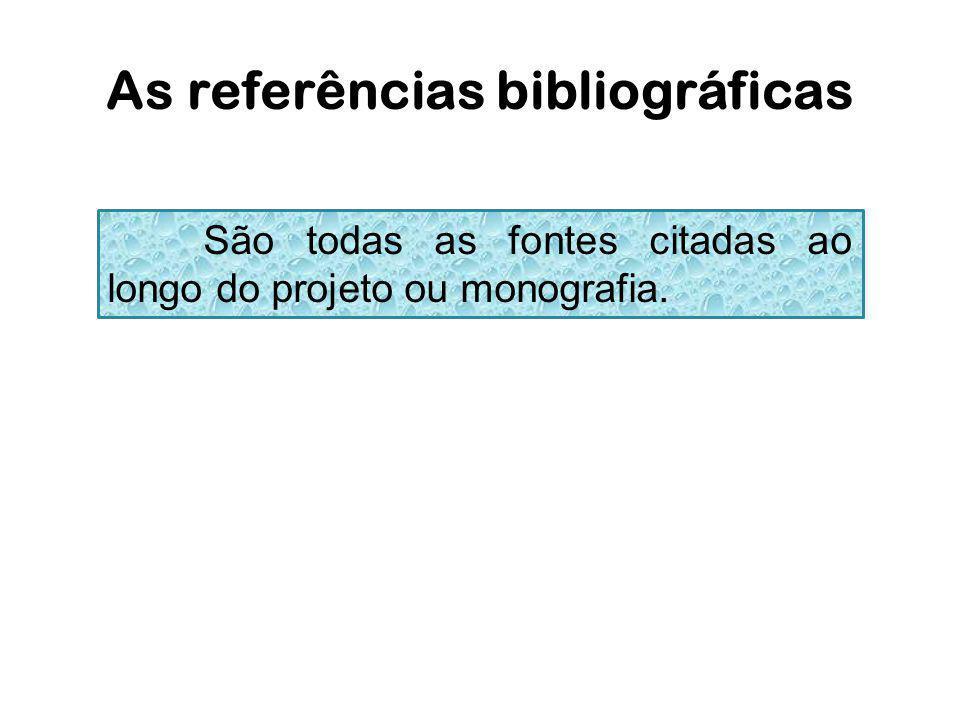 As referências bibliográficas