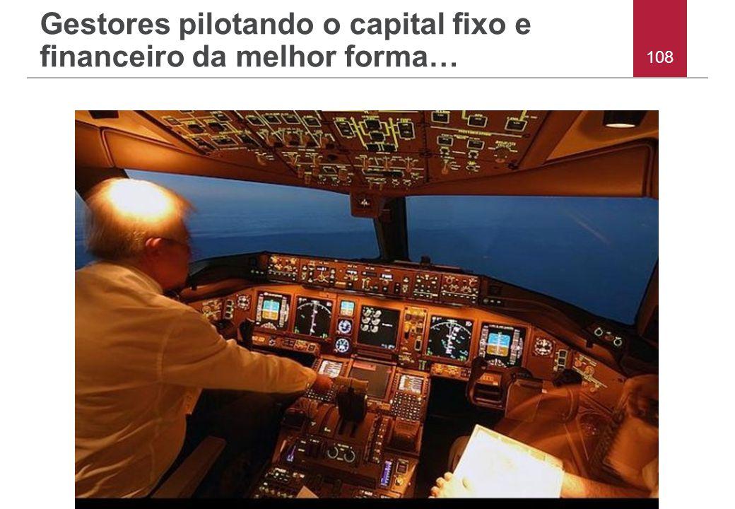 Gestores pilotando o capital fixo e financeiro da melhor forma…