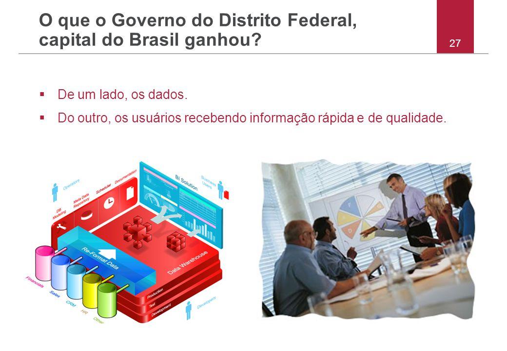 O que o Governo do Distrito Federal, capital do Brasil ganhou