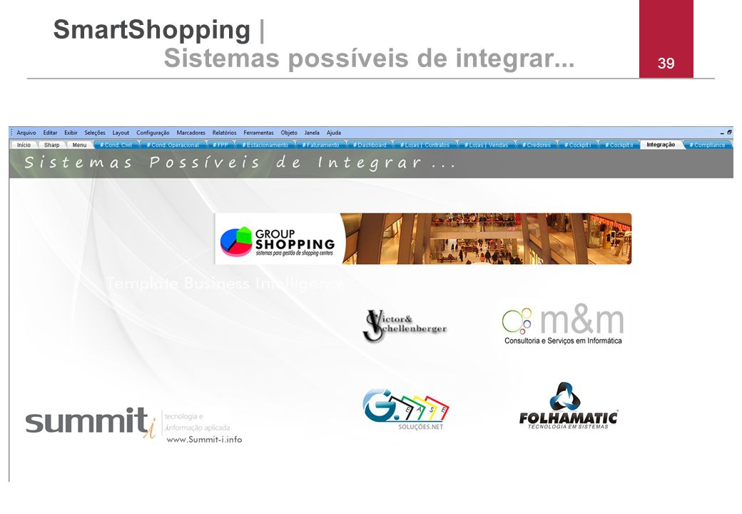 SmartShopping | Sistemas possíveis de integrar...