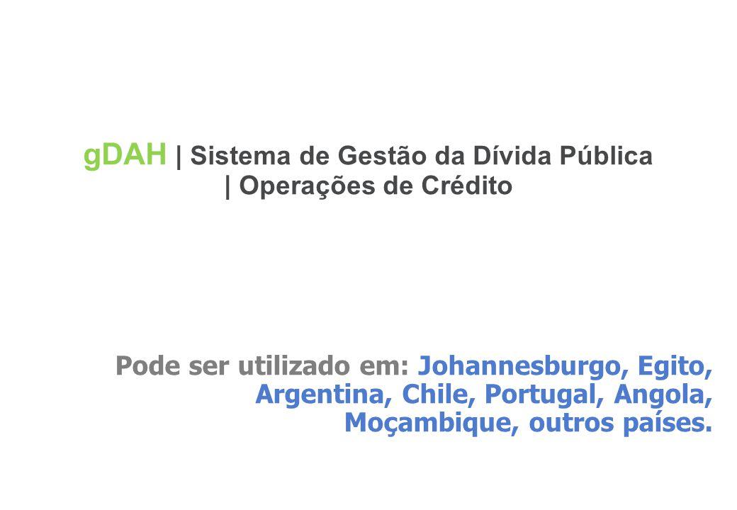 gDAH | Sistema de Gestão da Dívida Pública | Operações de Crédito