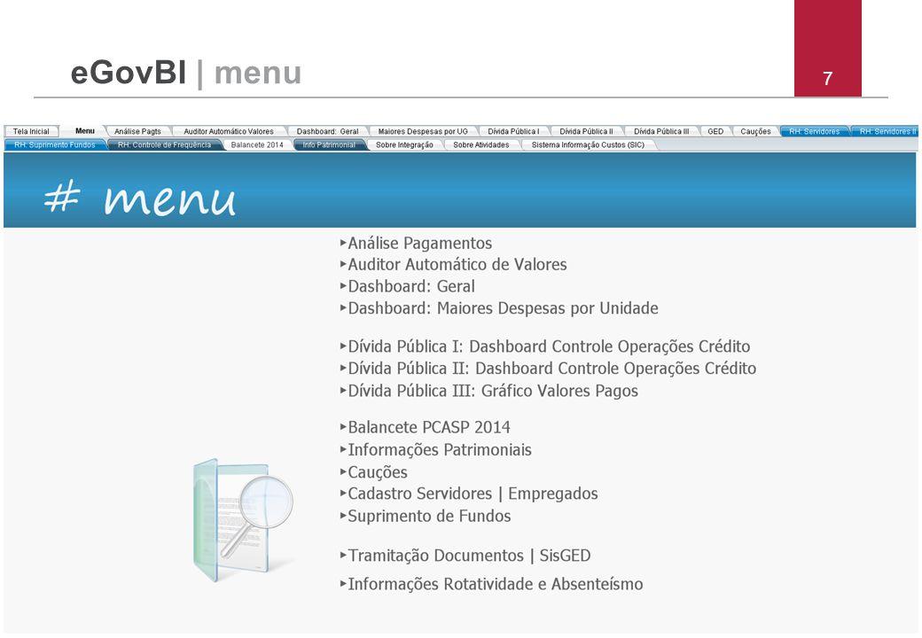 eGovBI | menu