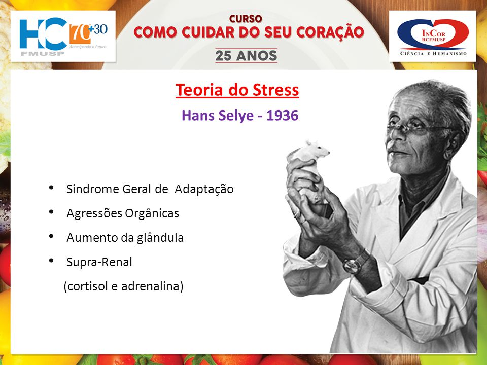 Teoria do Stress Hans Selye - 1936 Sindrome Geral de Adaptação