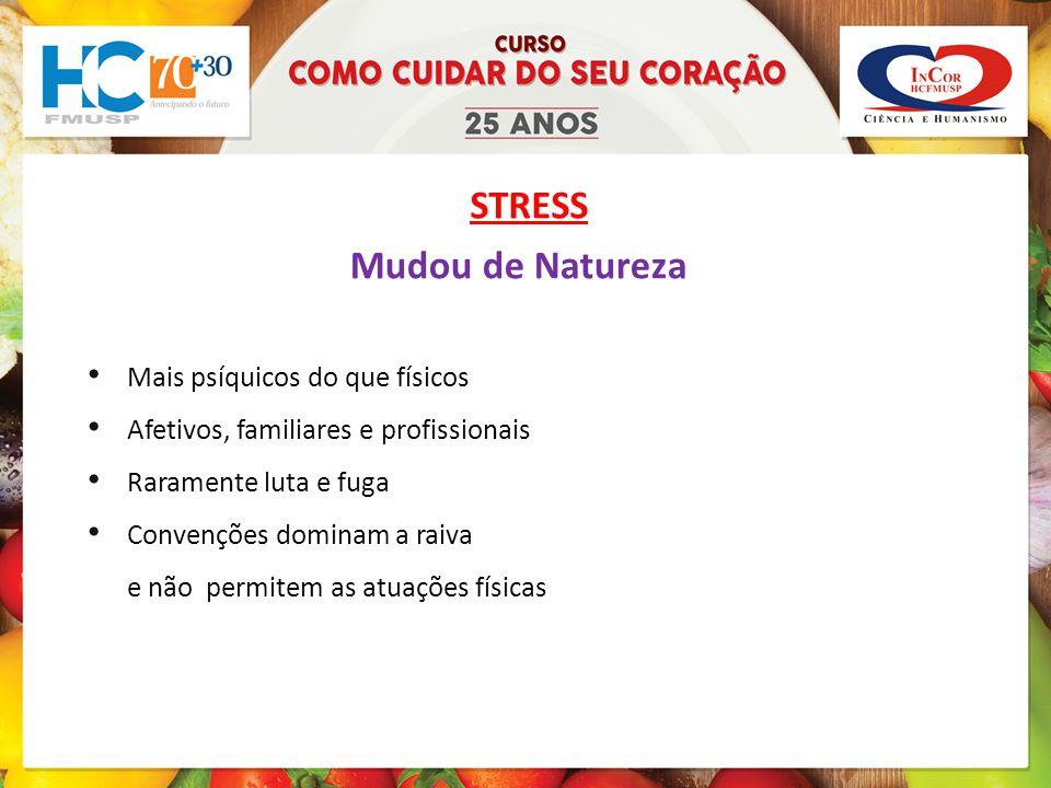 STRESS Mudou de Natureza Mais psíquicos do que físicos