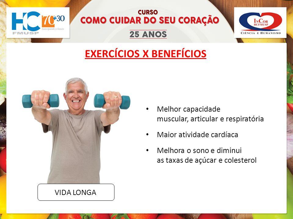 EXERCÍCIOS X BENEFÍCIOS