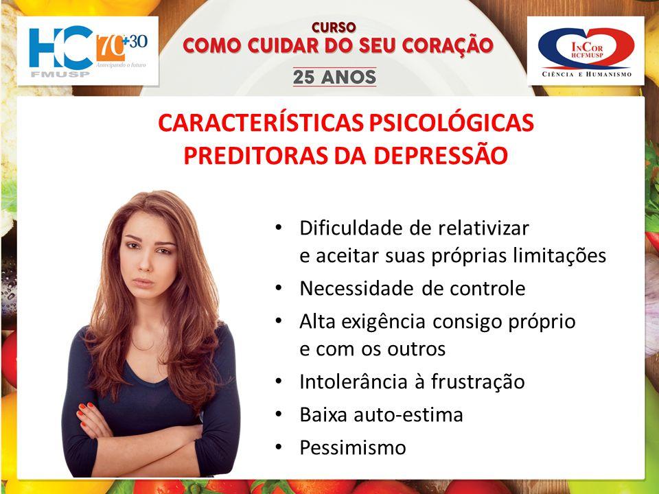 CARACTERÍSTICAS PSICOLÓGICAS PREDITORAS DA DEPRESSÃO