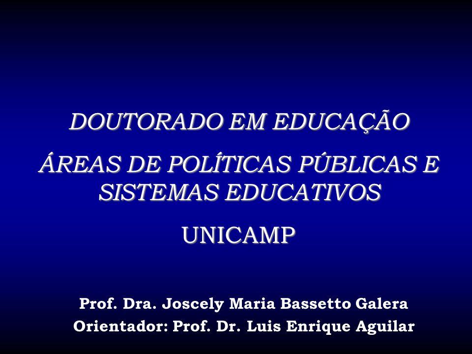ÁREAS DE POLÍTICAS PÚBLICAS E SISTEMAS EDUCATIVOS