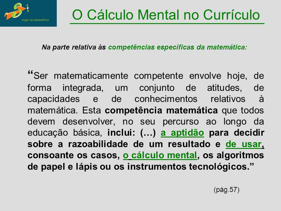 O Cálculo Mental no Currículo
