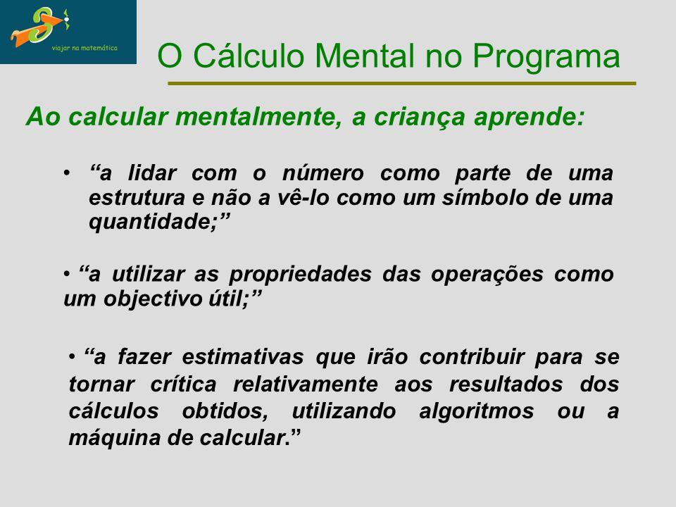O Cálculo Mental no Programa