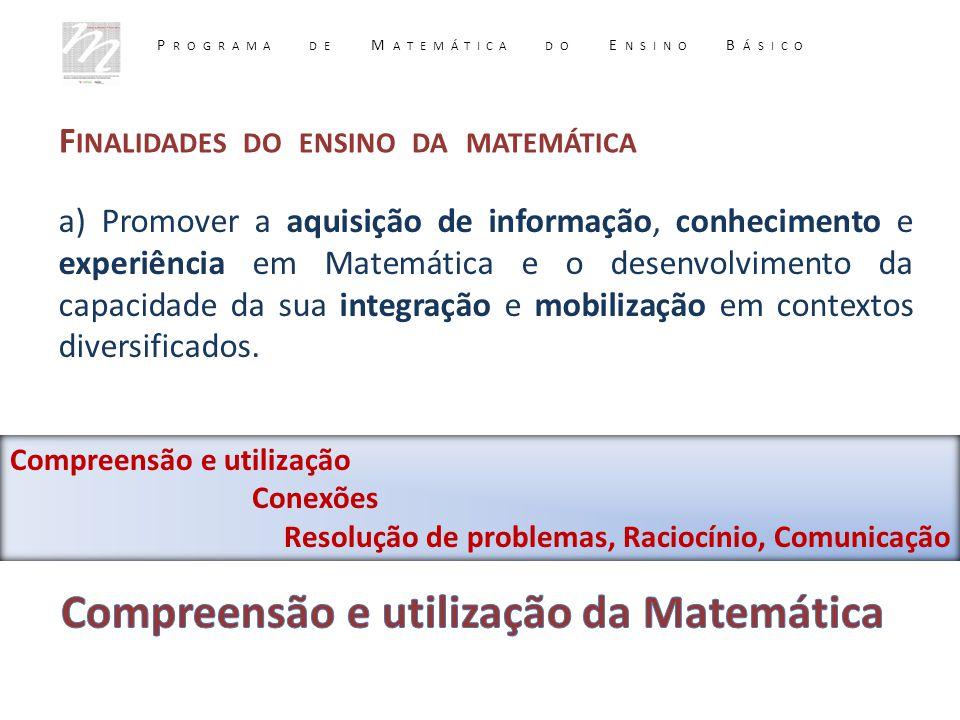 Compreensão e utilização da Matemática
