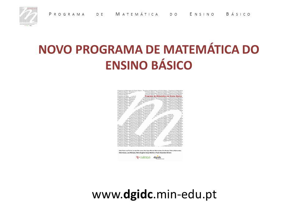 NOVO PROGRAMA DE MATEMÁTICA DO ENSINO BÁSICO