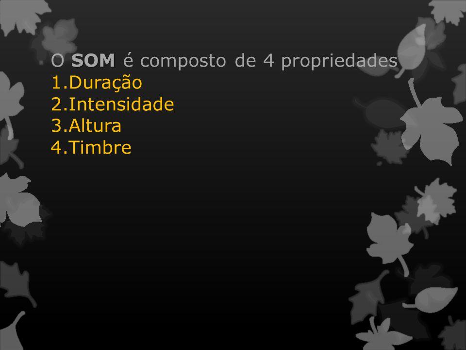O SOM é composto de 4 propriedades