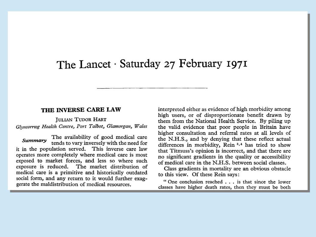 A Lei dos Cuidados Inversos