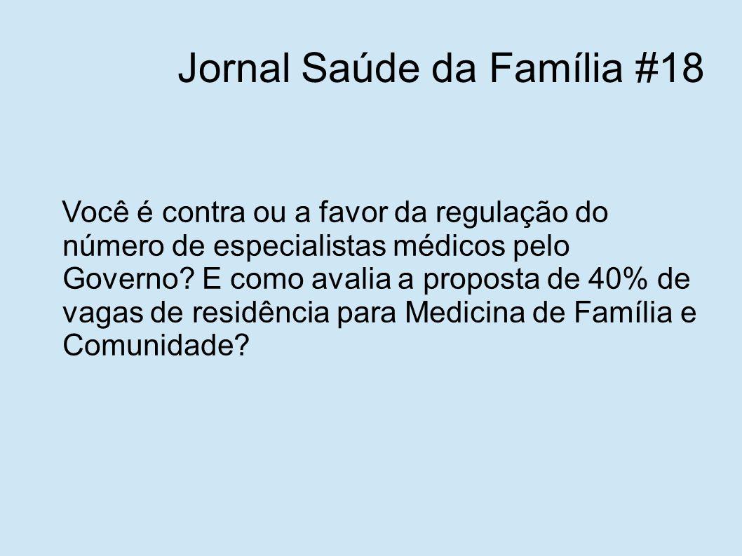Jornal Saúde da Família #18