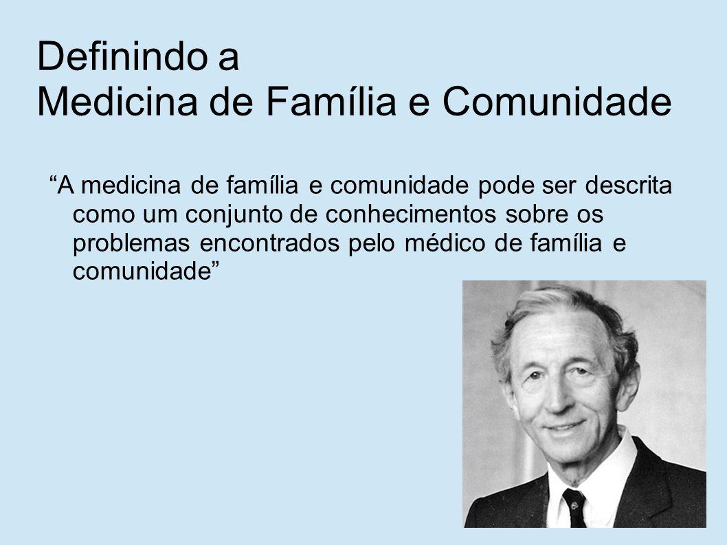 Definindo a Medicina de Família e Comunidade