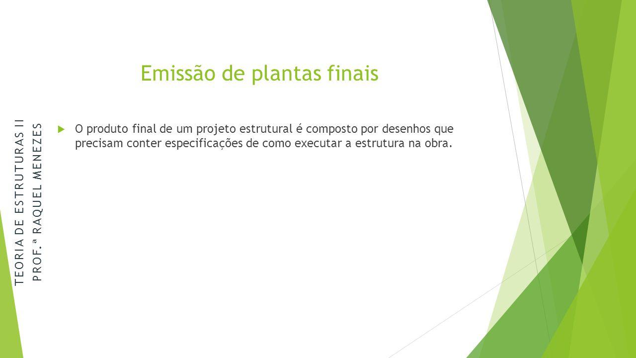 Emissão de plantas finais