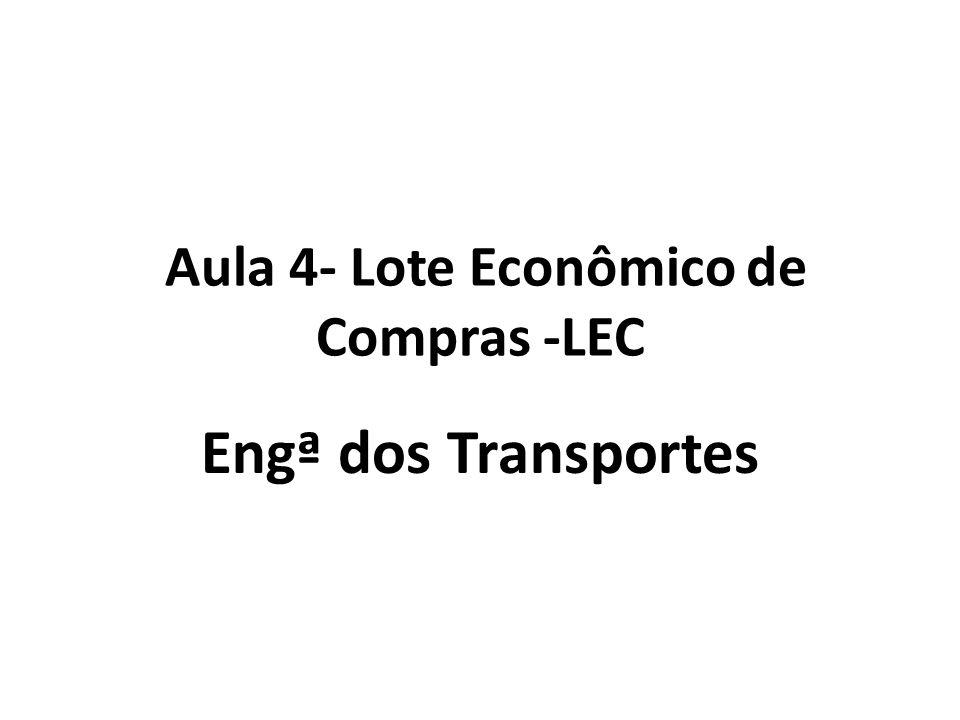 Aula 4- Lote Econômico de Compras -LEC
