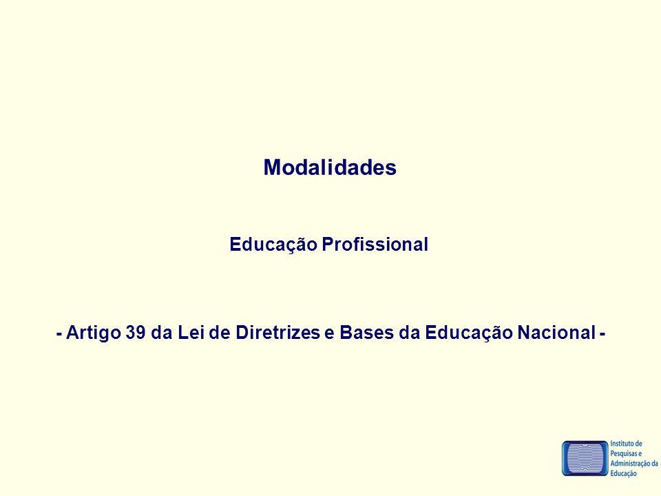 Modalidades Educação Profissional