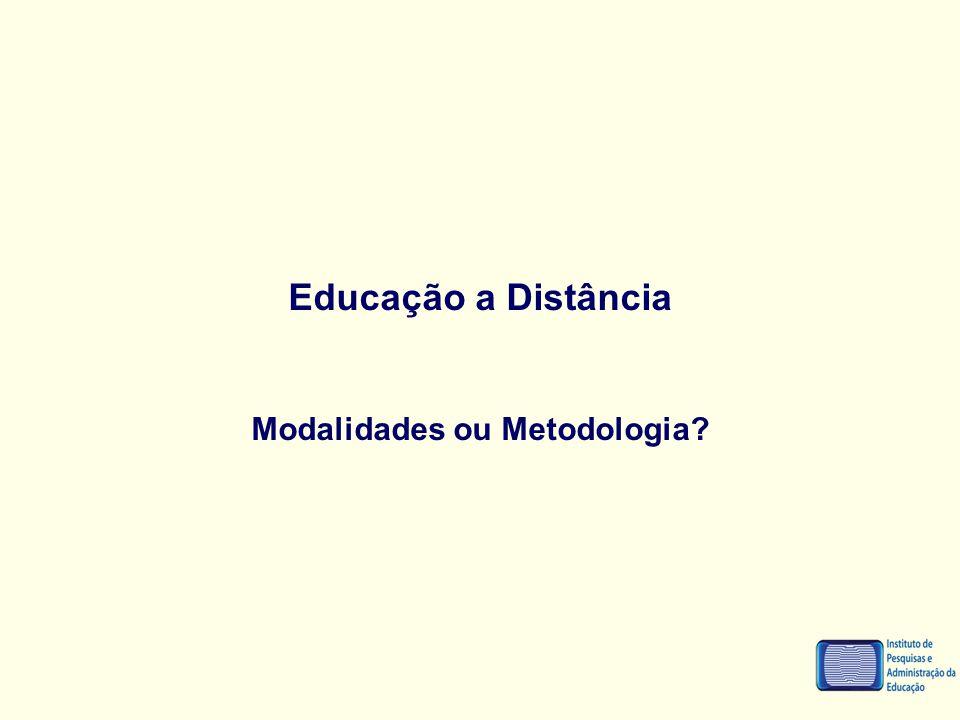 Modalidades ou Metodologia