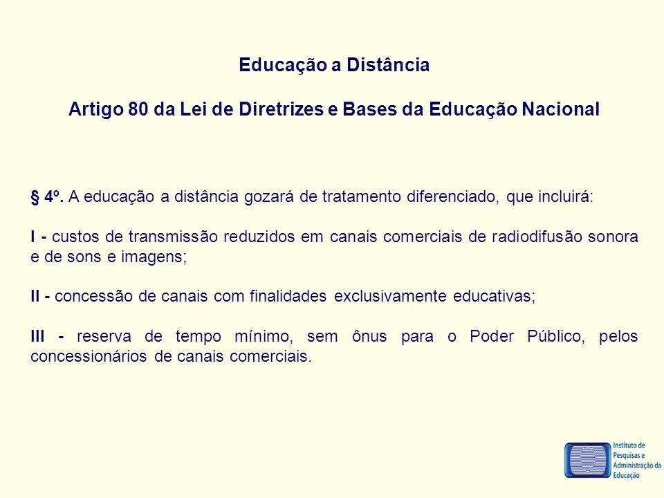 Artigo 80 da Lei de Diretrizes e Bases da Educação Nacional