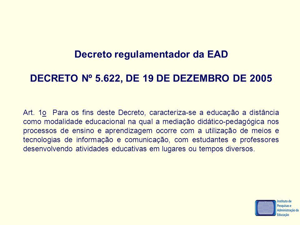 Decreto regulamentador da EAD