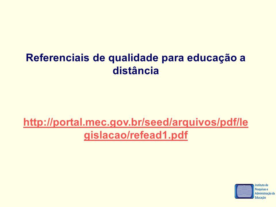 Referenciais de qualidade para educação a distância