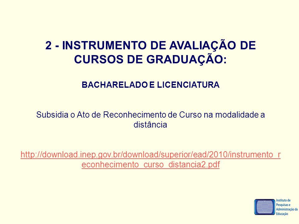 2 - INSTRUMENTO DE AVALIAÇÃO DE CURSOS DE GRADUAÇÃO: