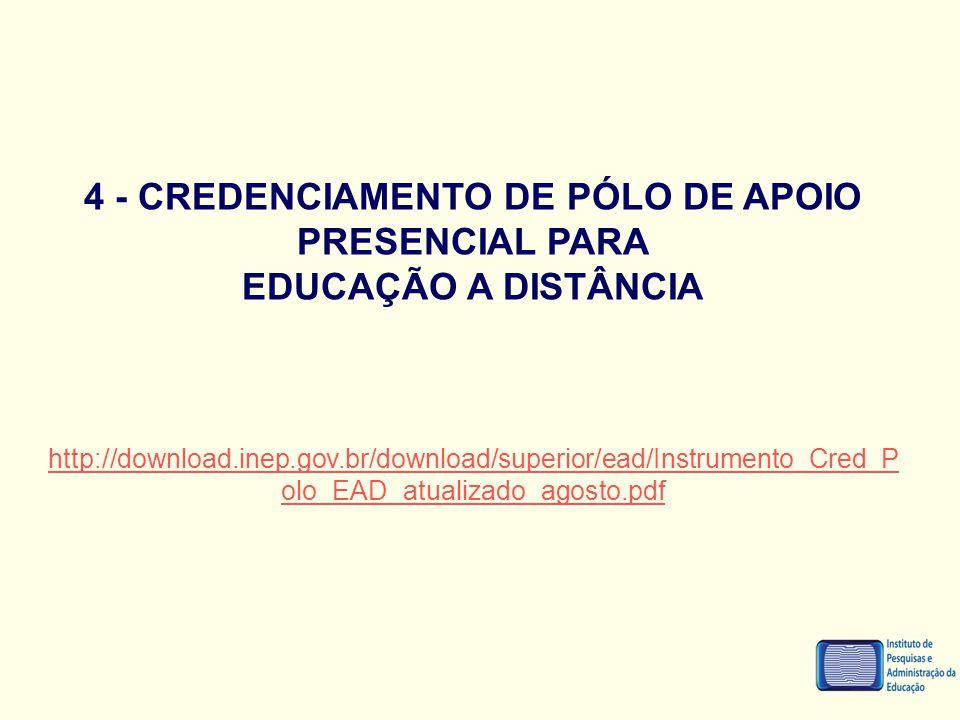 4 - CREDENCIAMENTO DE PÓLO DE APOIO PRESENCIAL PARA