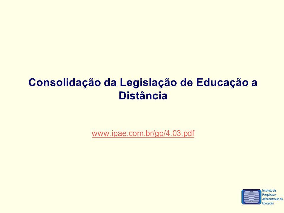 Consolidação da Legislação de Educação a Distância