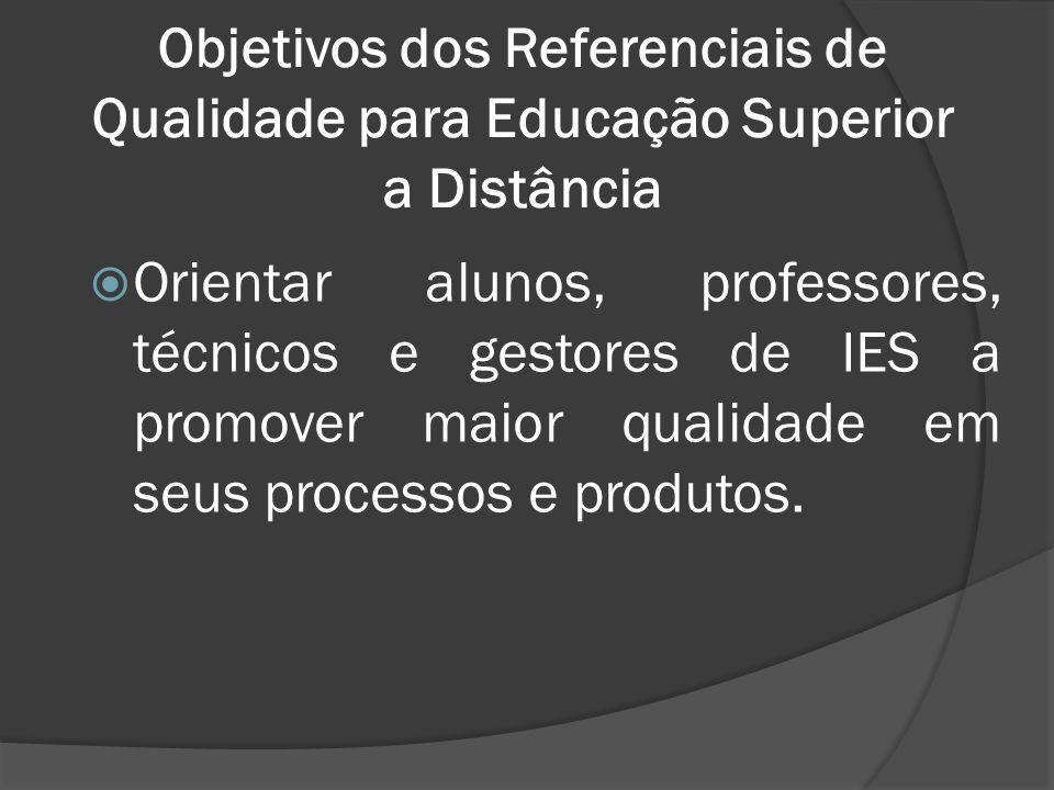 Objetivos dos Referenciais de Qualidade para Educação Superior a Distância