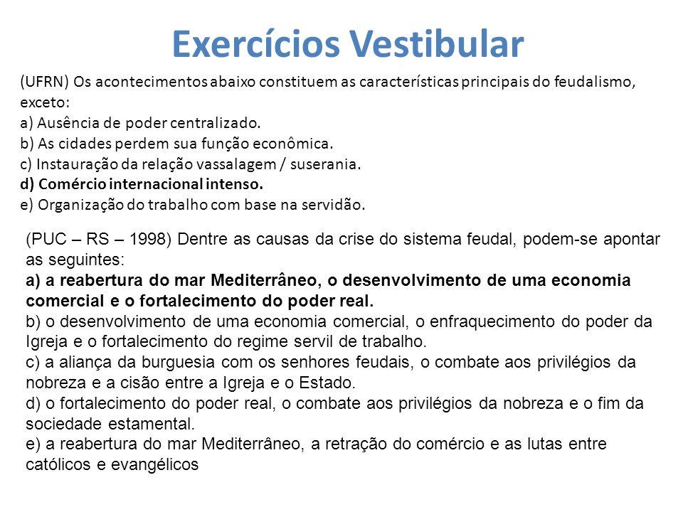 Exercícios Vestibular
