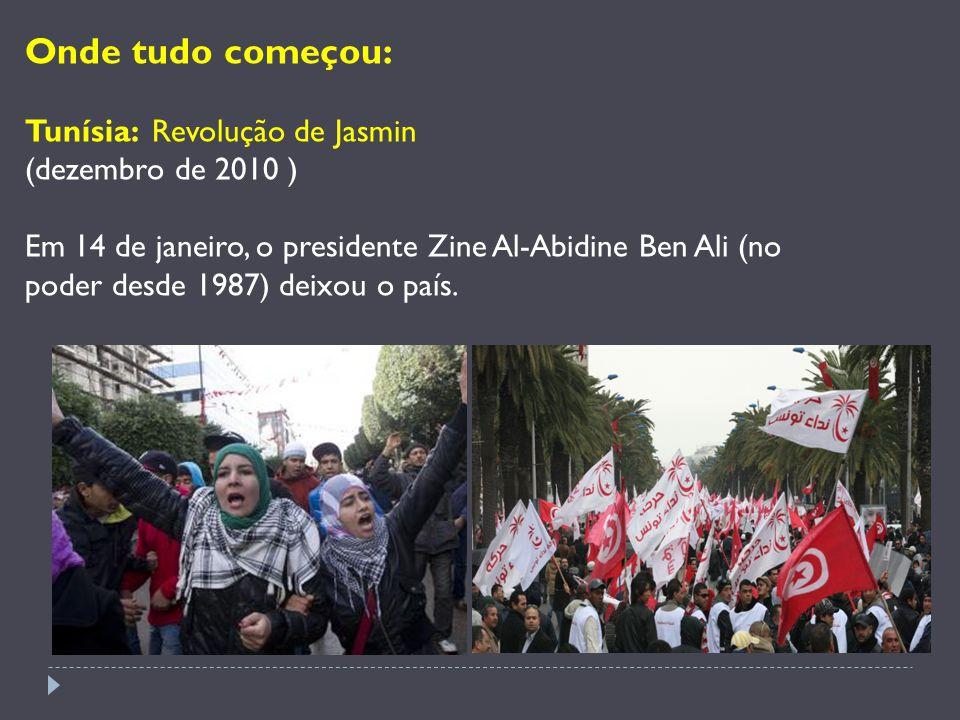 Onde tudo começou: Tunísia: Revolução de Jasmin (dezembro de 2010 )