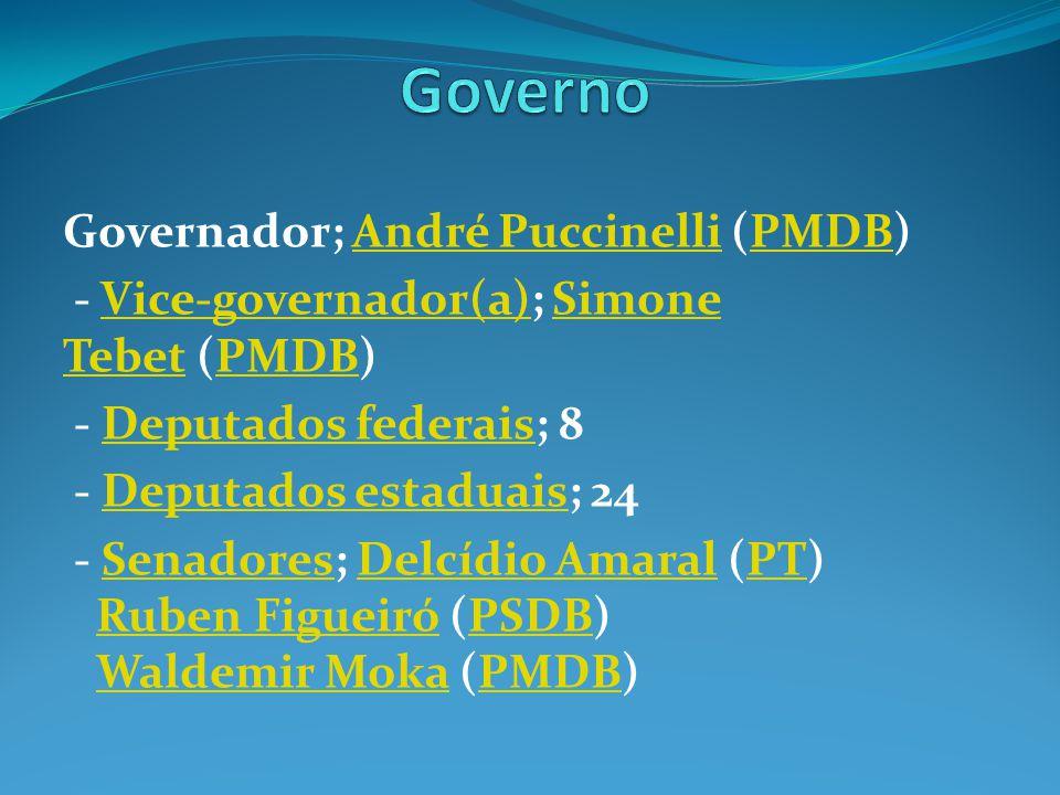 Governo Governador; André Puccinelli (PMDB)