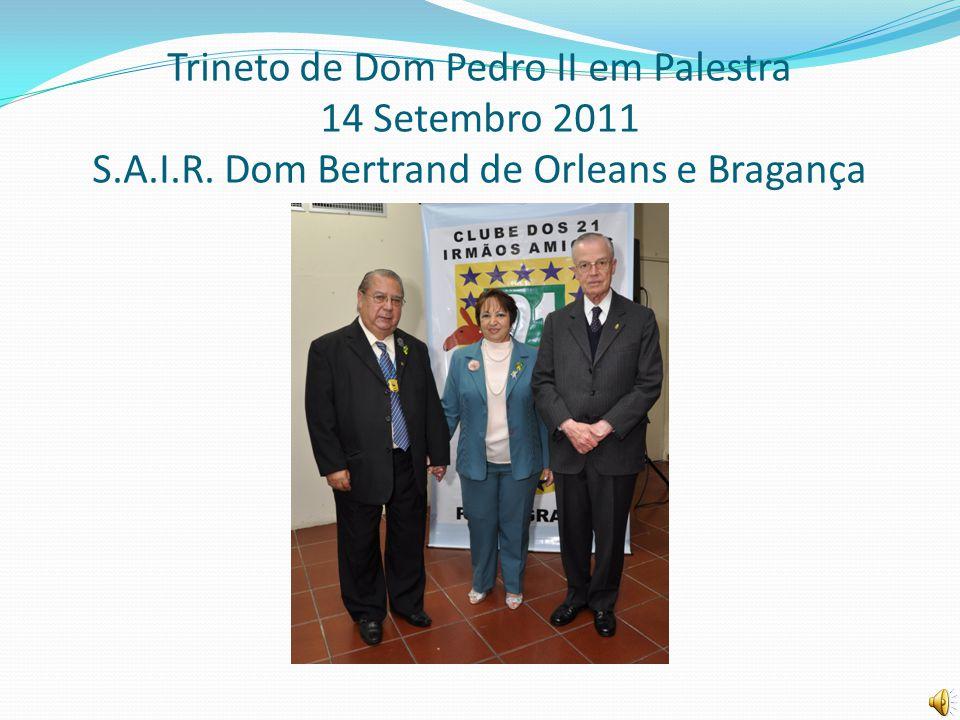 Trineto de Dom Pedro II em Palestra 14 Setembro 2011 S. A. I. R