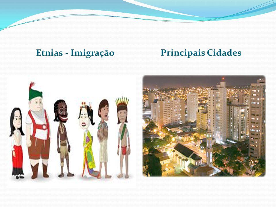 Etnias - Imigração Principais Cidades