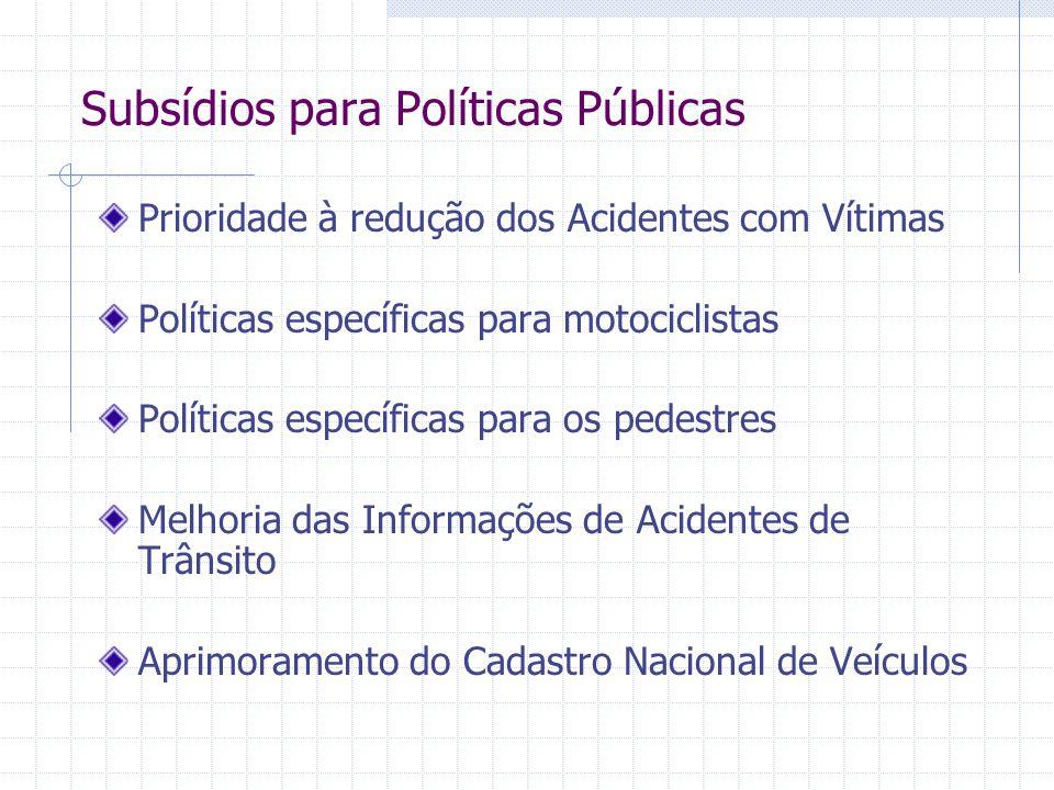 Subsídios para Políticas Públicas