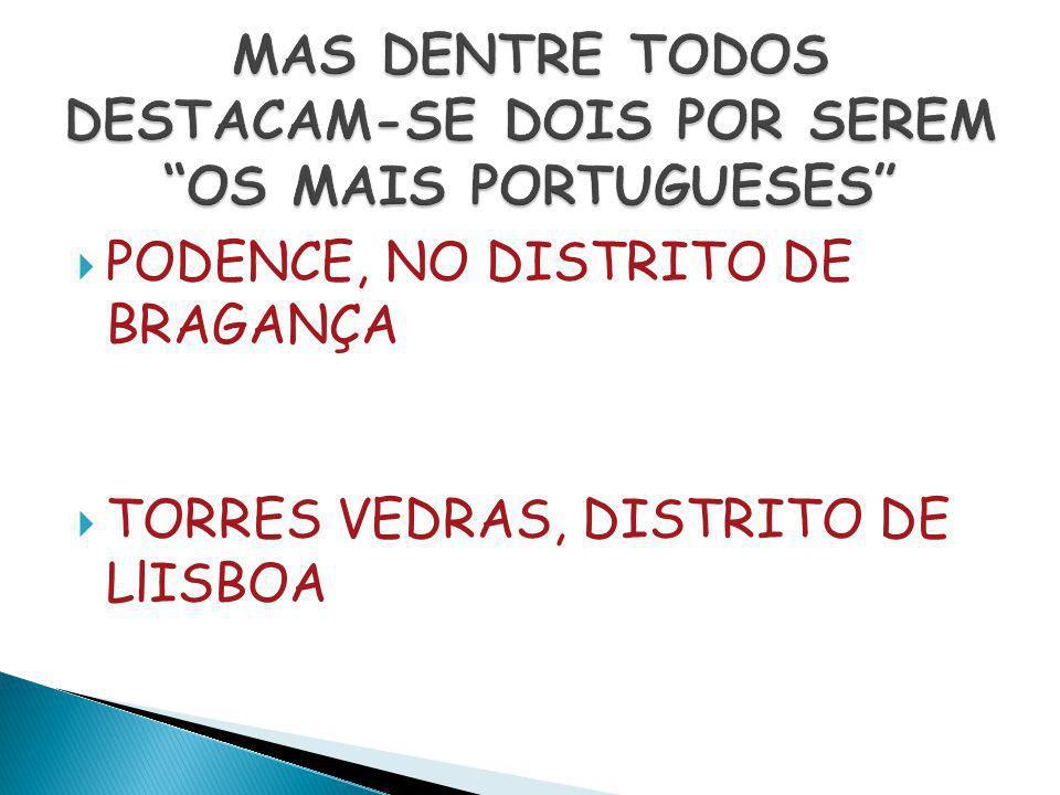 MAS DENTRE TODOS DESTACAM-SE DOIS POR SEREM OS MAIS PORTUGUESES