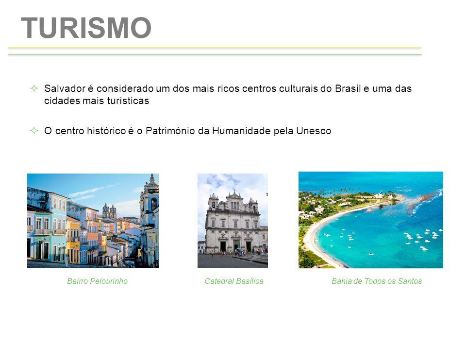 TURISMO Salvador é considerado um dos mais ricos centros culturais do Brasil e uma das cidades mais turísticas.