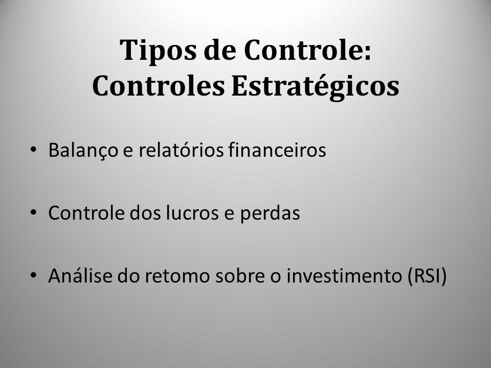 Tipos de Controle: Controles Estratégicos