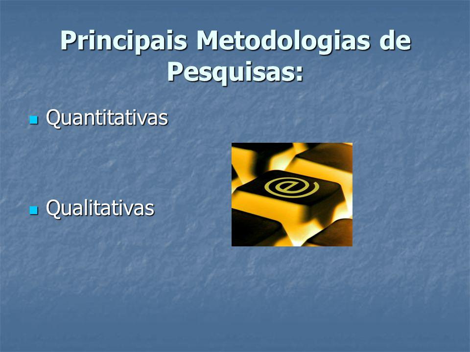 Principais Metodologias de Pesquisas: