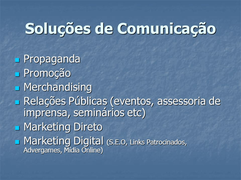 Soluções de Comunicação