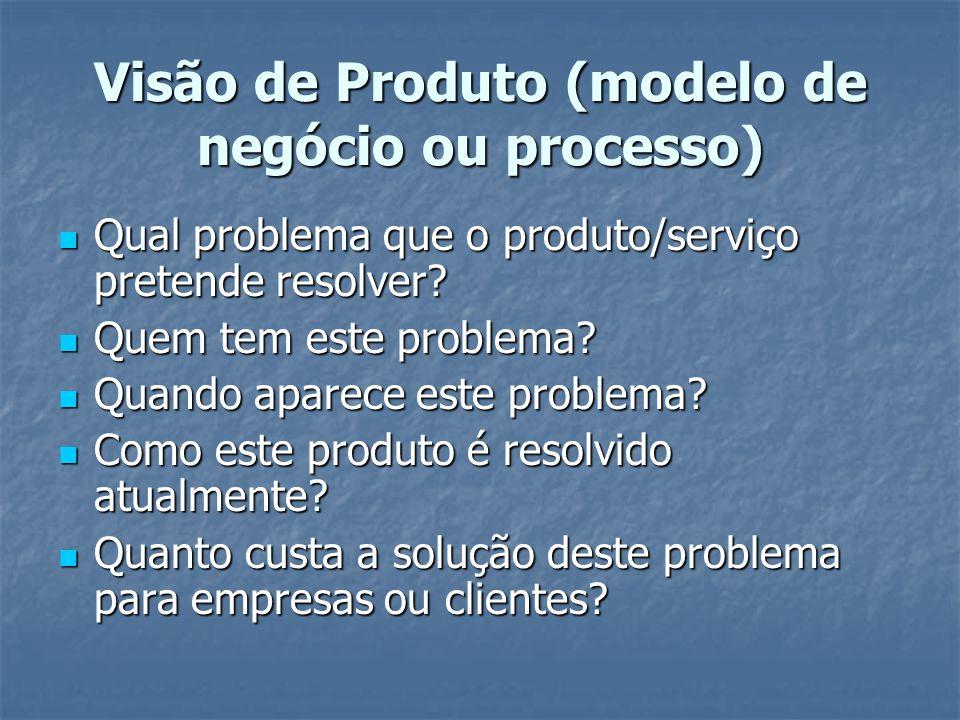 Visão de Produto (modelo de negócio ou processo)