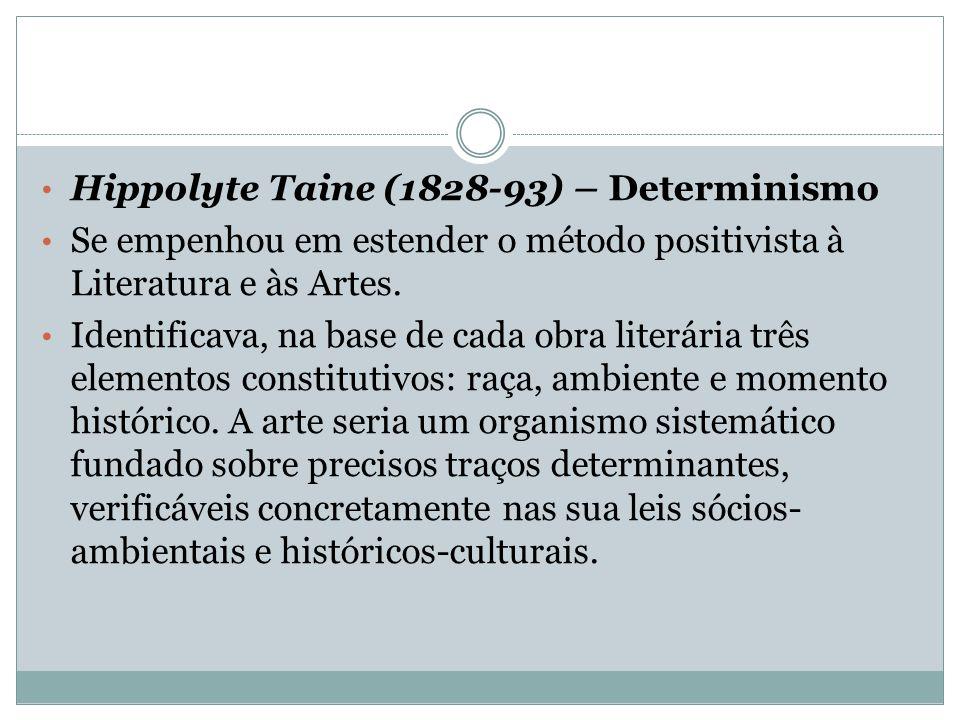 Hippolyte Taine (1828-93) – Determinismo