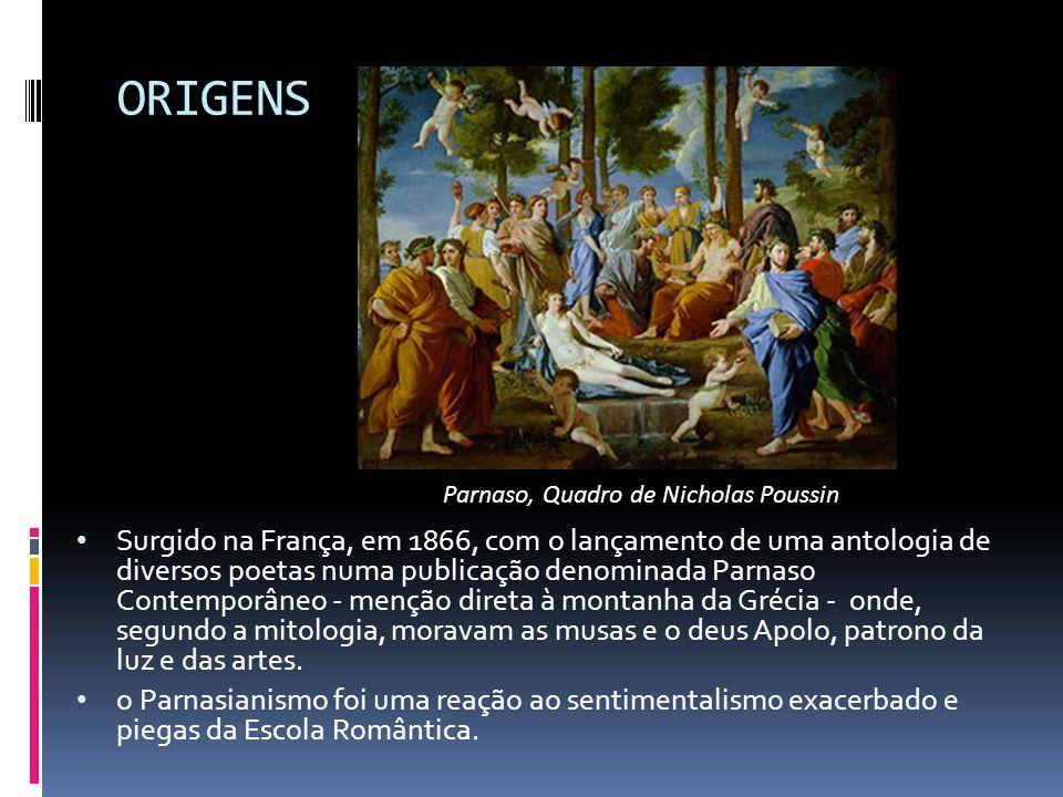 ORIGENS Parnaso, Quadro de Nicholas Poussin.