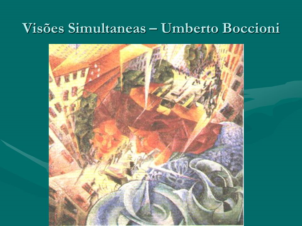 Visões Simultaneas – Umberto Boccioni